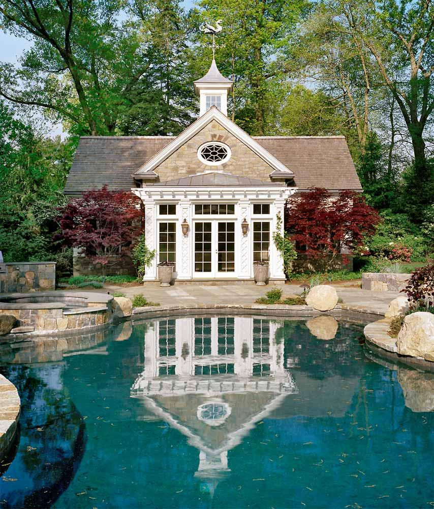 pool house ideas. Colonial-pool-house-03 Pool House Ideas